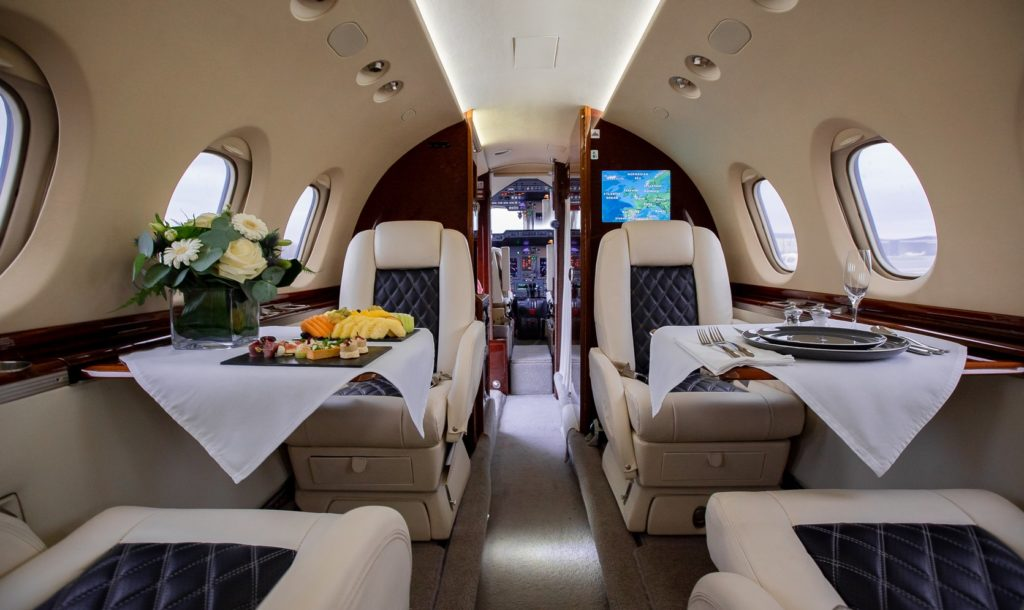 Private-Jet interior